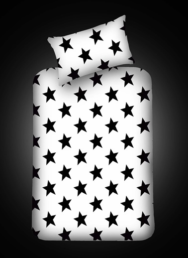 Eponj Home Pes Lastikli Çarşaf Seti Tek Kişilik B&W BigStar Siyah